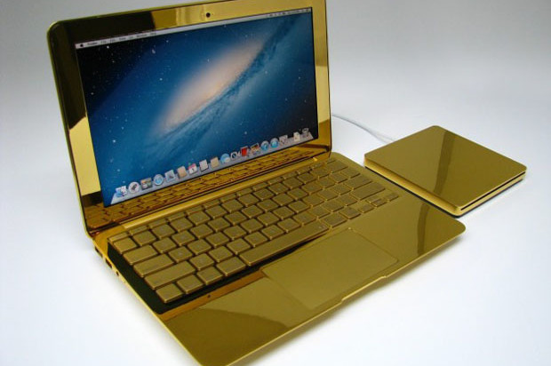 Gold, platinum and diamonds for Macbook and iPhone by Computer Choppers