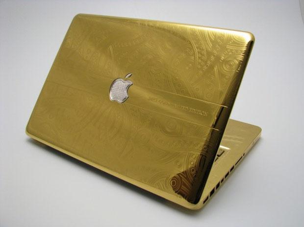 Gold and diamond MacBook
