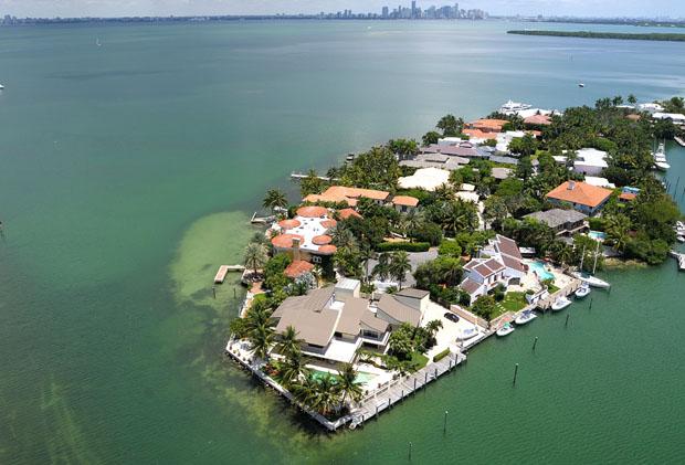 Luxury villa aerial view