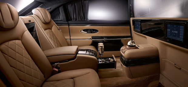 Maybach Zeppelin back seats