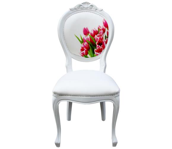 White Bespoke Dining Chair
