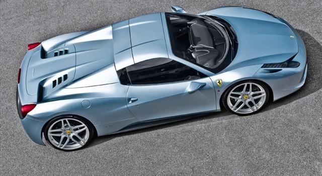 Ferrari 458 Spider Top View