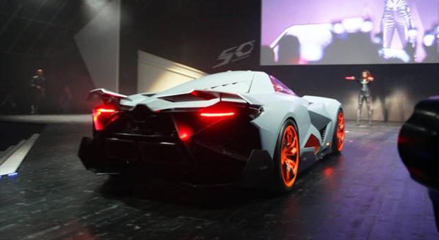 Lamborghini Egoista Concept Rear View