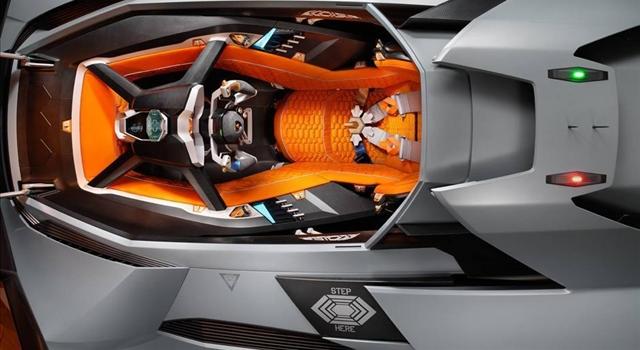 Lamborghini Egoista Concept Top View
