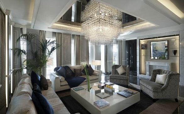 Roman Penthouse Suite, living room