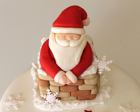 Christmas decorated cakes