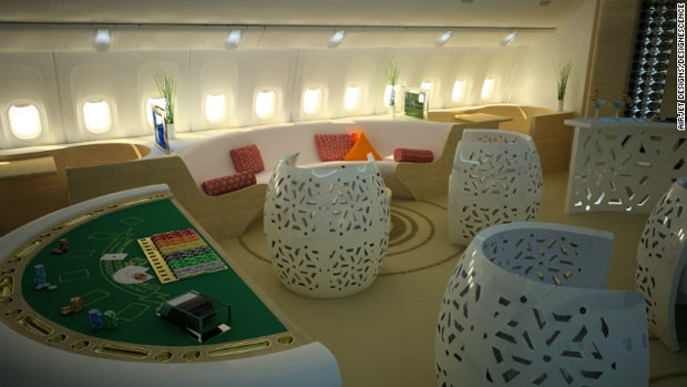 Casino Jet Lounge designed by Jean-Pierre Alfano and Frédérique Houssard