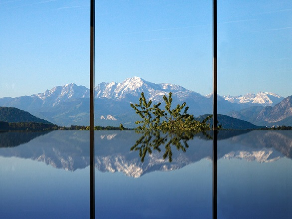 Enjoy its panoramic view of the Alps
