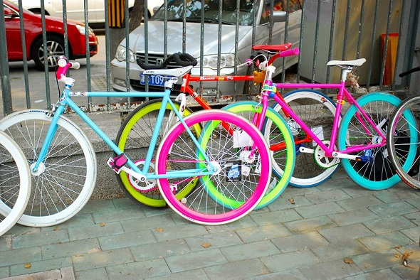 You can notice whether a fixie is there
