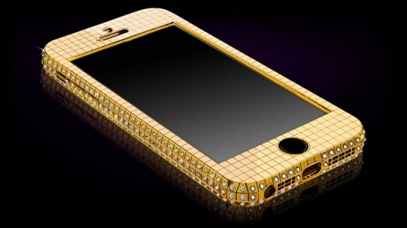 A solid gold iPhone
