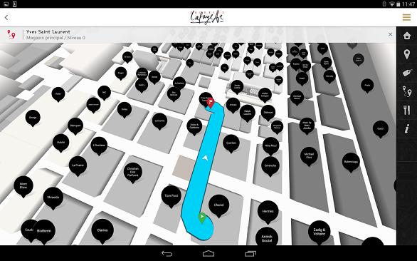 Galeries Lafayette virtual map