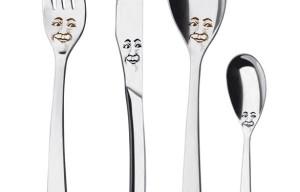 Sanserif Creatius designs new cutlery with faces