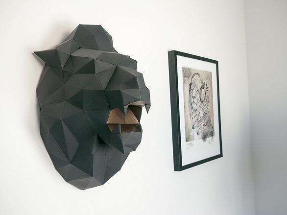 Papertrophy lion