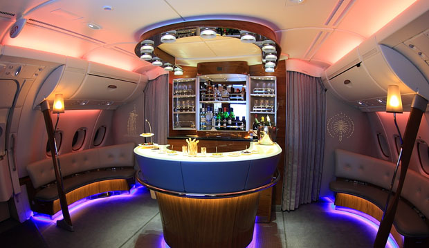 Airbus A380 restaurant bar