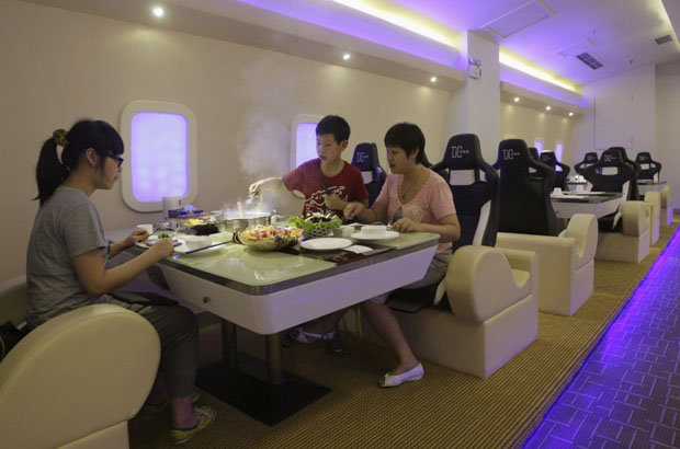 Airbus A380 restaurant, enjoy the flight