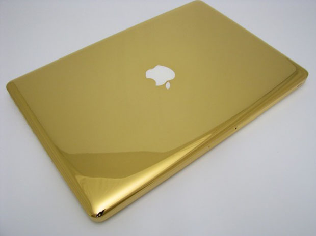 Golden MacBook Pro - Laptop mengandung emas