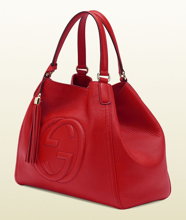 Gucci handbag red side view