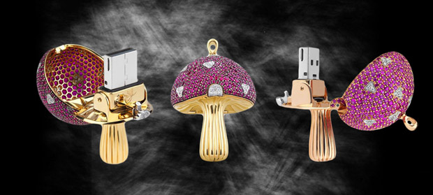 The usb stick in diamonds and precious stones by Shawish Jewellery