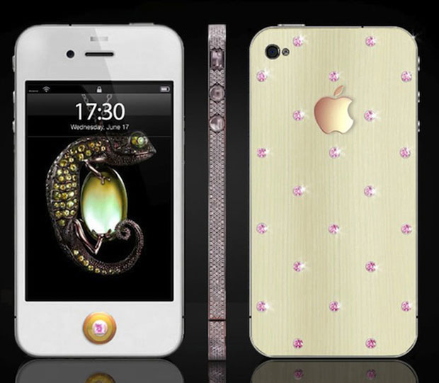 Pink Diamond iPhone | 850 small diamonds and 18 carat gold