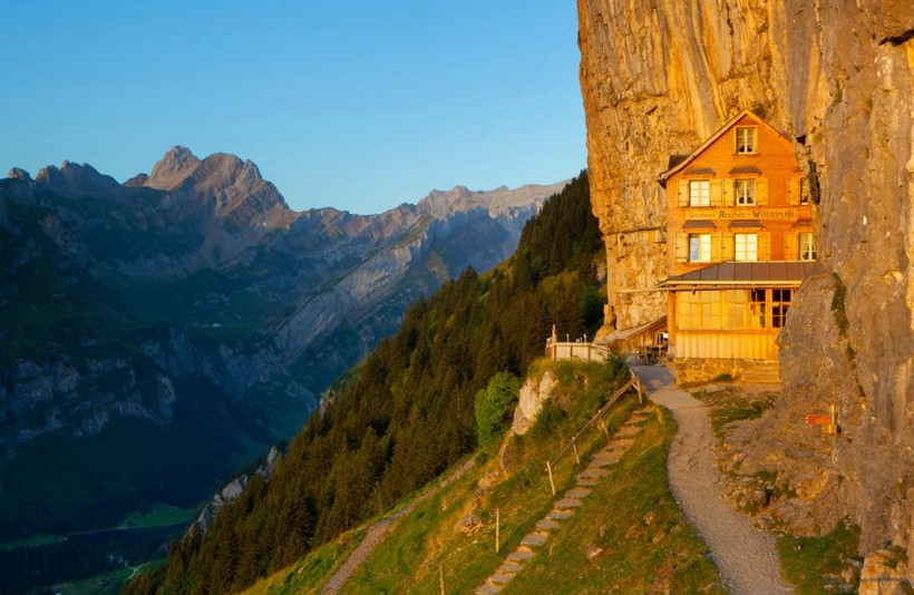 Berggasthaus Aescher: a fantastic retreat in the Swiss Alps