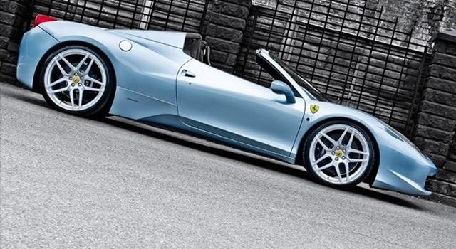 Ferrari 458 Spider Side View