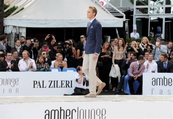 F1 Monaco 2013: luxury parade of Pal Zileri Amber Lounge Fashion with pilots
