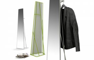 Watergate: the trapezoidal mirror (designed by Roberto Paoli)