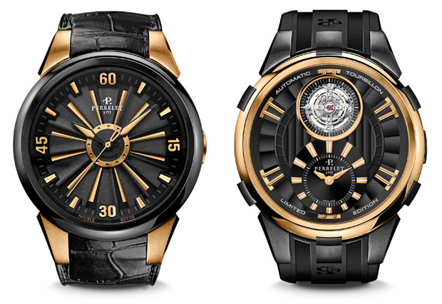 Luxury Watches | Perrelet Turbine and Tourbillon Limited Edition Black & Gold