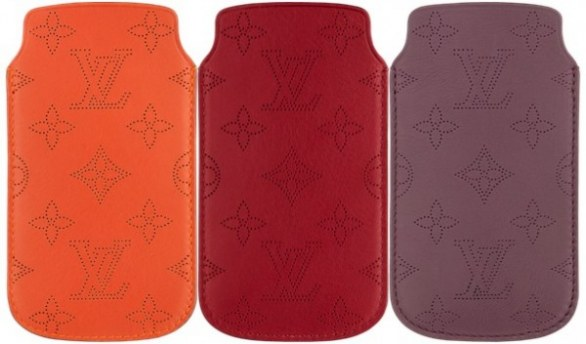 Louis Vuitton, perforated leather cases for iPhone 5S