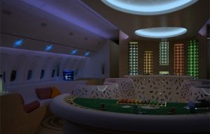 Luxurious casino bars for airplanes