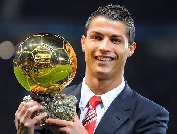 Cristiano Ronaldo and his Golden Ball