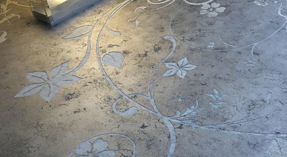 Embossed floor