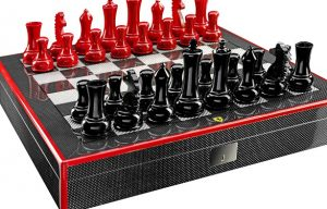 Ferrari designs a luxury chess with its characteristic colours