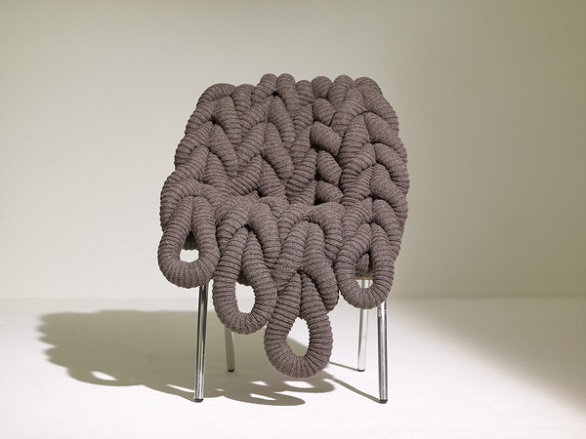 A knitted chair