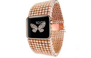 Mervin Diamonds designs a luxurious Apple Watch strap with embeded diamonds