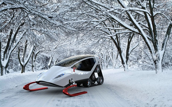 Snow Crawler | A futuristic snowmobile to stimulate your imagination