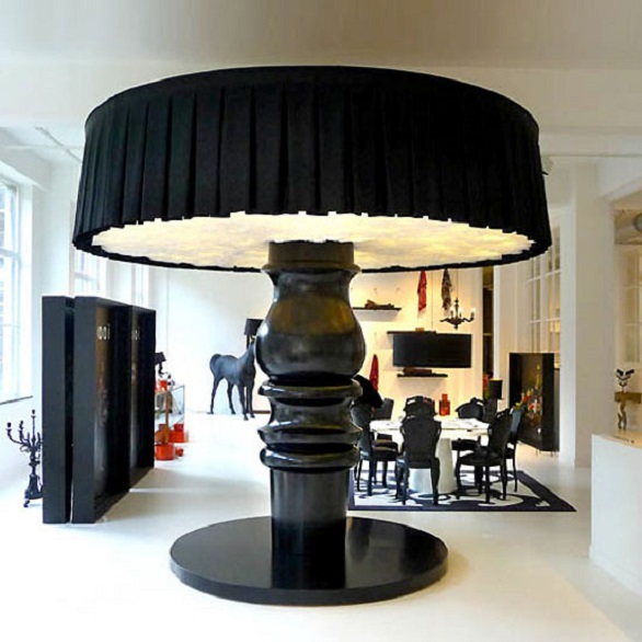 There is room even for this lamp